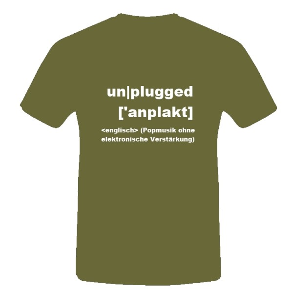 T-Shirt Unplugged-Tour 2008