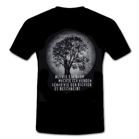 T-Shirt Alt wie ein Baum